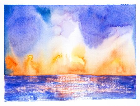 fantacy: seascape  skywatercolor on paper