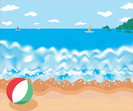 recess: seascape illustration