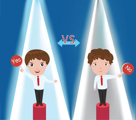 Businessman contest illustration