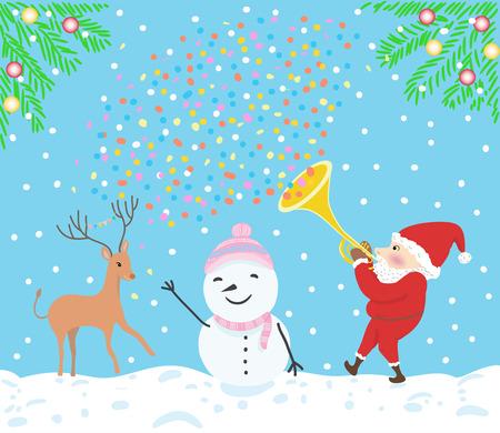 spacial: merry christmas illustration Illustration