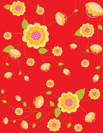 beautyful: beautyful gold flowers vintage style pattern background