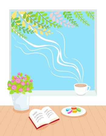 spring time: relax in spring time illustration Illustration