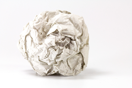 crumpled paper: gray paper balls selective focus with shallow depth of field