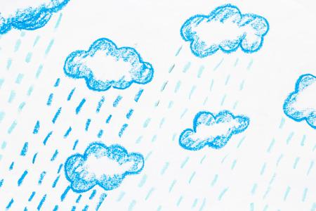 雨とクラウド パステル塗装 写真素材