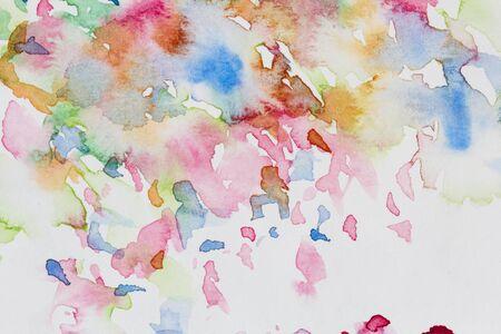abstracte kleurrijke aquarel op papier