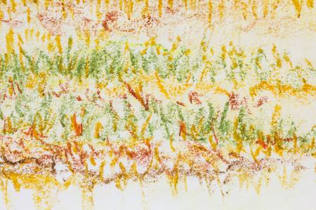テクスチャ背景を描いた抽象フィールド クレヨン 写真素材