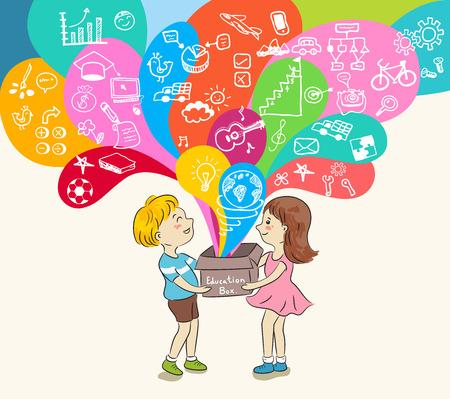 kinderen en onderwijs vak vector illustratie