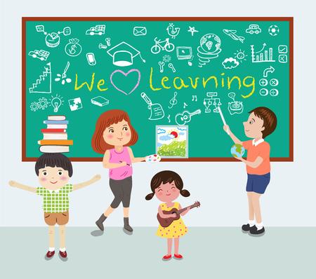 we love learning vector illustration
