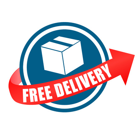 free: free delivery with arrow Illustration