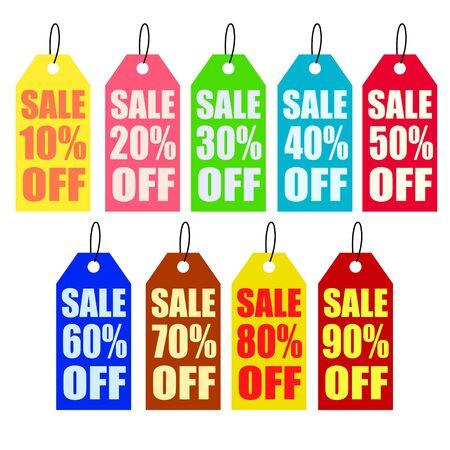 sale tag: Sale tag percent off