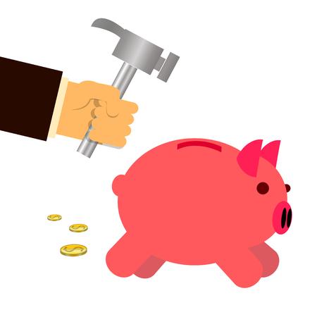 smash: smash the pink pig saving Illustration