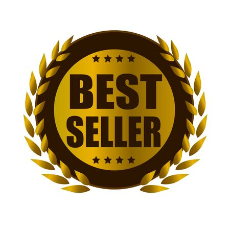 the seller: best seller leaf gold badge