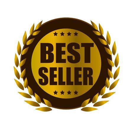 best seller: Bestseller Blattgold badge Illustration