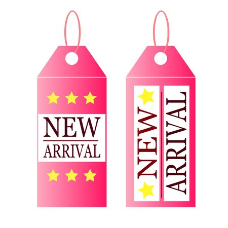 arrival: new arrival pink tag Illustration
