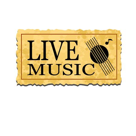live music: live music old ticket