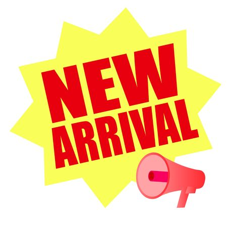 mega phone: new arrival with mega phone Illustration