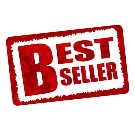 the seller: best seller red stamp Illustration