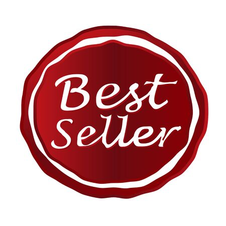 the seller: best seller red stamp circle