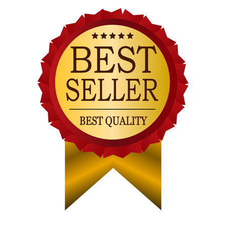 the seller: best seller vintage badge Illustration
