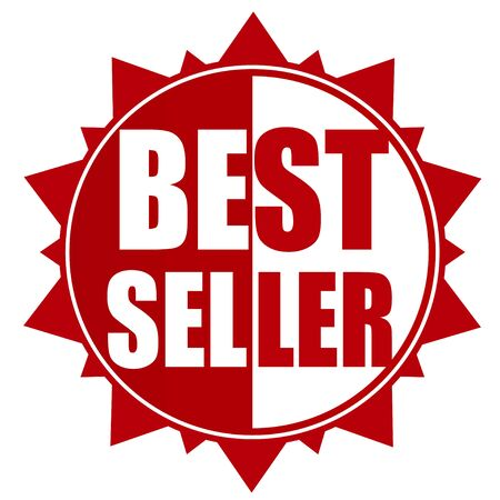 the seller: best seller red modern badge