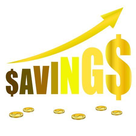 grow money: saving money gold graph