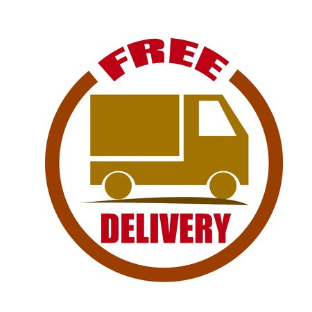 sell car: free delivery icon with truck