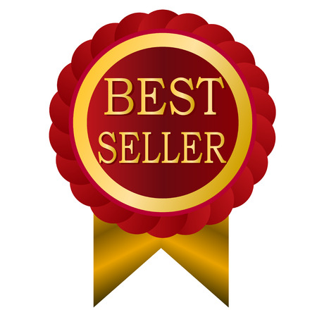 the seller: best seller red vintage badge