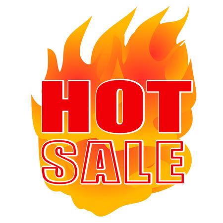 quemadura: fuego caliente de la venta quemar mejor oferta Vectores