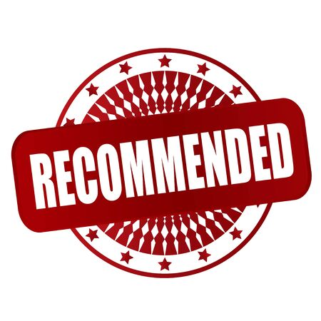 recommended: recommended red circle badge