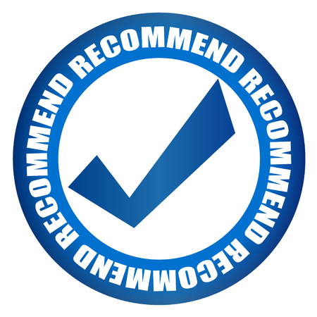 the right choice: recommended right choice blue badge Illustration