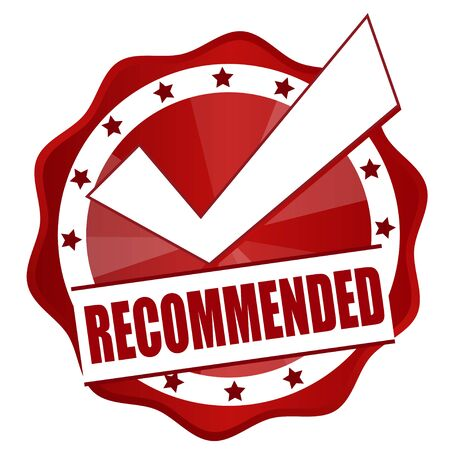 right choice: recommended red badge right choice Illustration