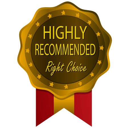recommended: highly recommended gold badge Illustration