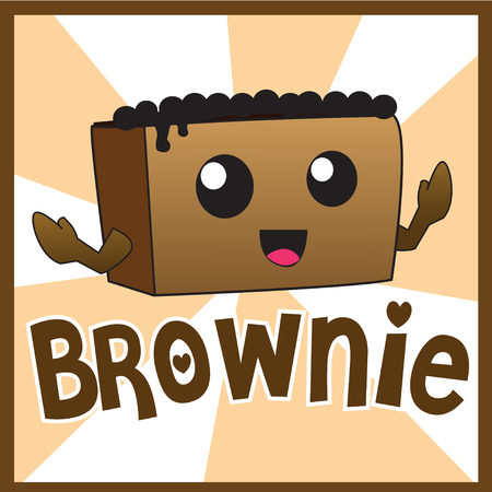 brownie: brownie cute cartoon Illustration