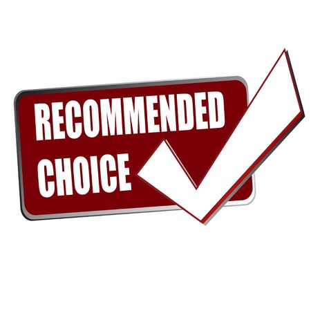 the right choice: recommended right choice red tag