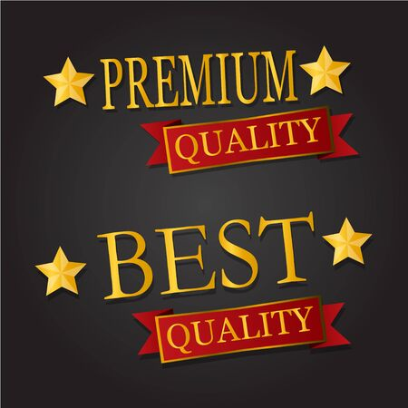 best quality: Premium Best quality text star Illustration