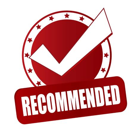 right choice: recommended right choice red badge circle