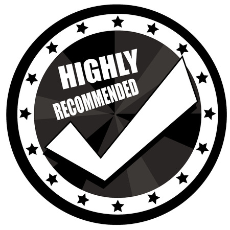 right choice: recommended right choice black badge circle Illustration