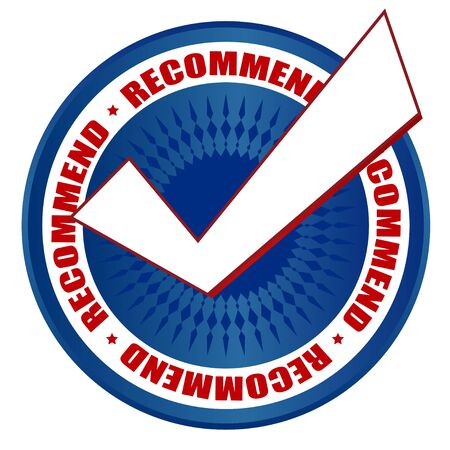 right choice: recommended right choice blue badge circle