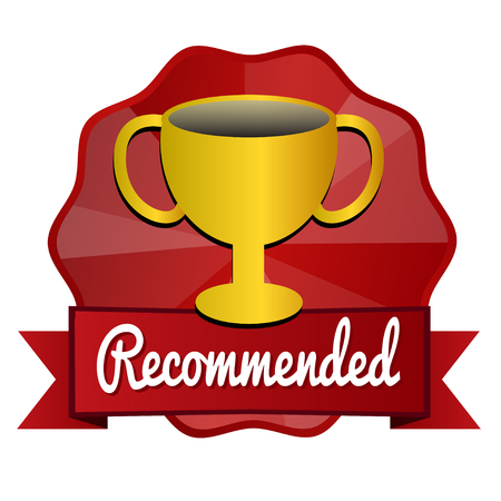 recommended: recommended vintage cup vintage badge