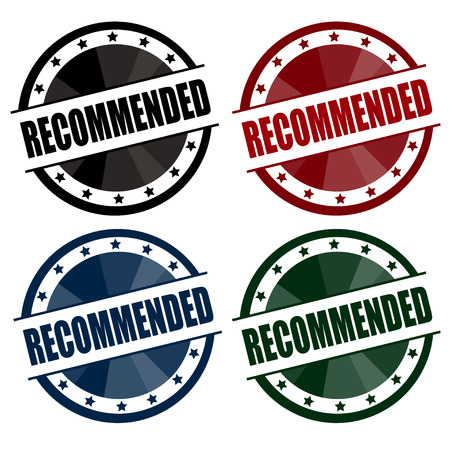 recommended: recommended vintage circle vintage badge
