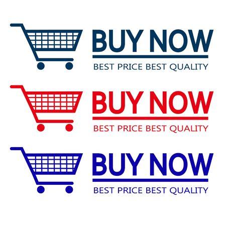 illustrators: buy now shop cart vector red