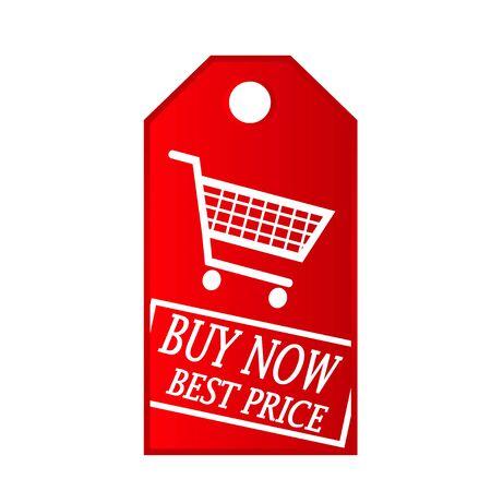 buy now shop cart vector red