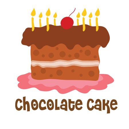 chocolate cake cartoon sweet vector Иллюстрация