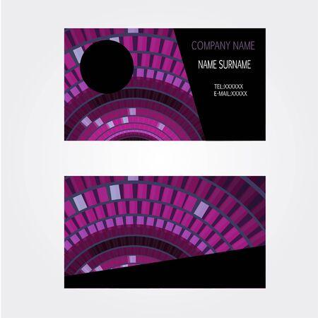 Business-Card name card Set Modern violet