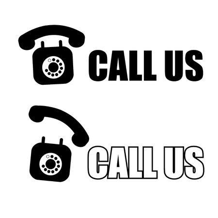 phone us: call us with phone icon