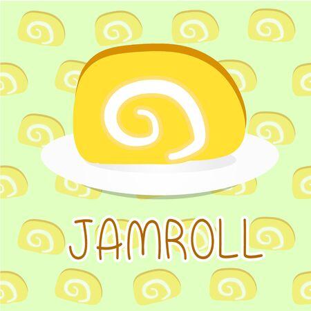 jamroll sweet cartoon eat vector