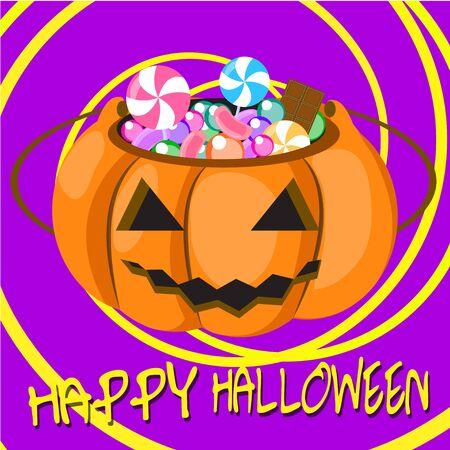 happy halloween candy pumpkin