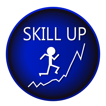 skill: skill up man graph vector