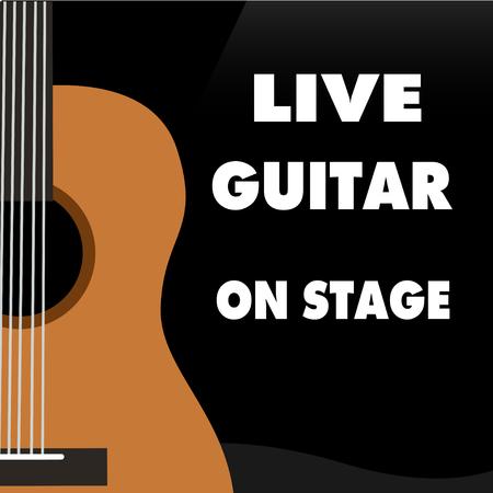 guitar classic instrument music vector Иллюстрация