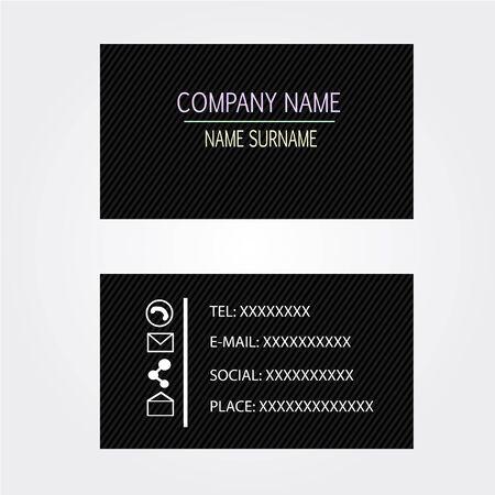 businesscard: Business-Card name card Set black